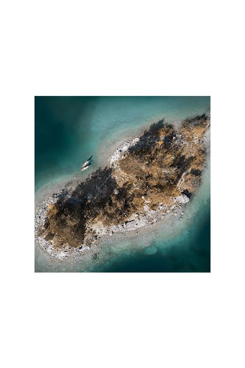 Drone photo of lake Eibsee
